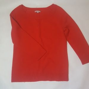 3/4 Sleeve Red Sweater